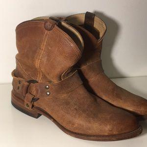 Frye Wyatt Harness Short Leather Boots